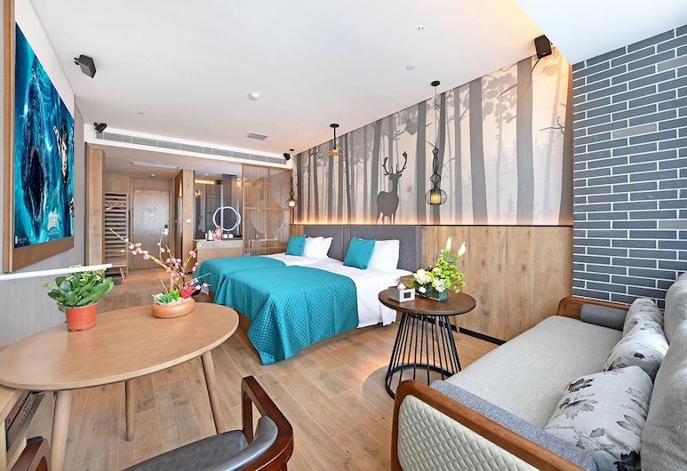 廣州美麗豪酒店, 廣州市, 歐式浪漫雙床房, 客房