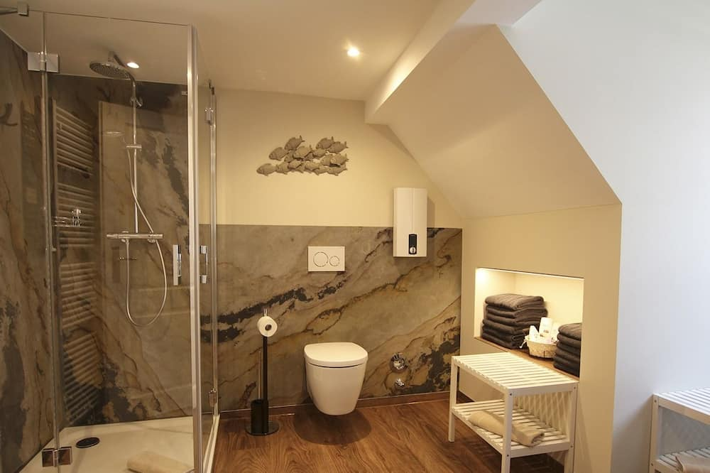 Deluxe-Apartment, eigenes Bad - Badezimmer