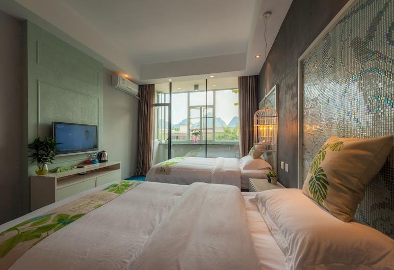 Yangshuo 9 Time Hotel, Guilin, Habitación superior con 2 camas individuales, balcón, Habitación