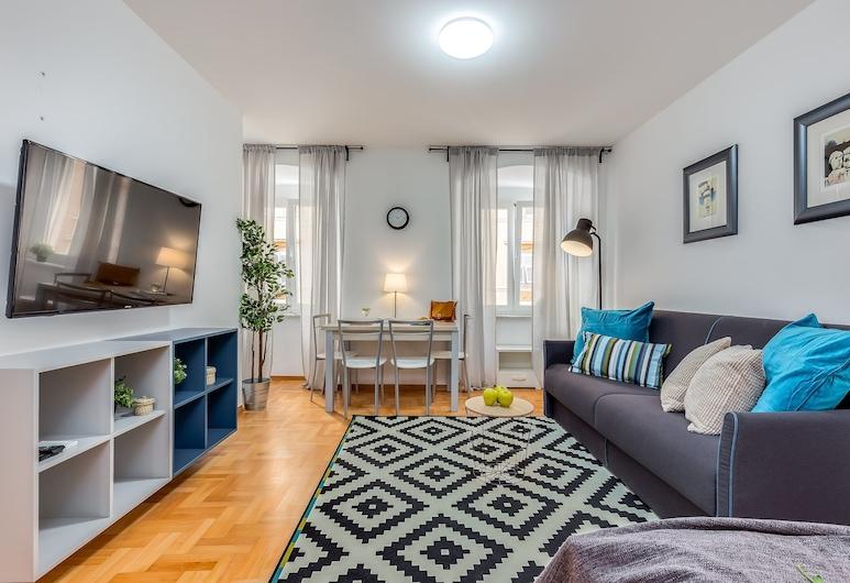 Main Street Apartments, Rijeka, City stuudio (3), Elutuba