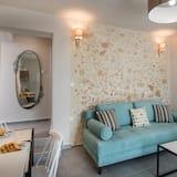 Dvojlôžková izba typu Deluxe, 1 veľké dvojlôžko, balkón - Obývacie priestory