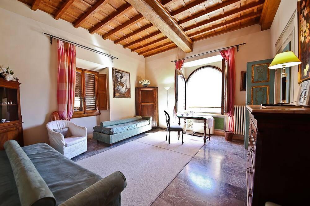 Deluxe appartement, 1 slaapkamer - Woonruimte