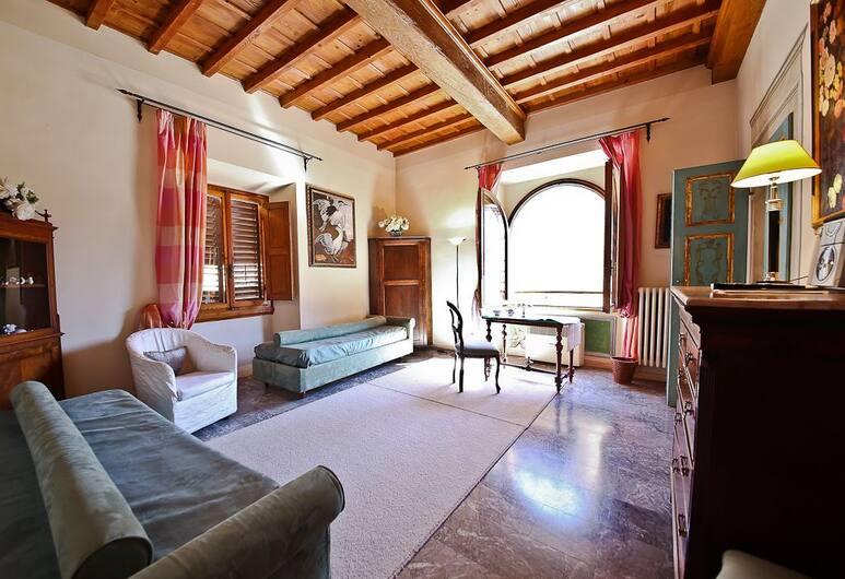 Signoria Farine, Florence, Appartement Deluxe, 1 chambre, Coin séjour