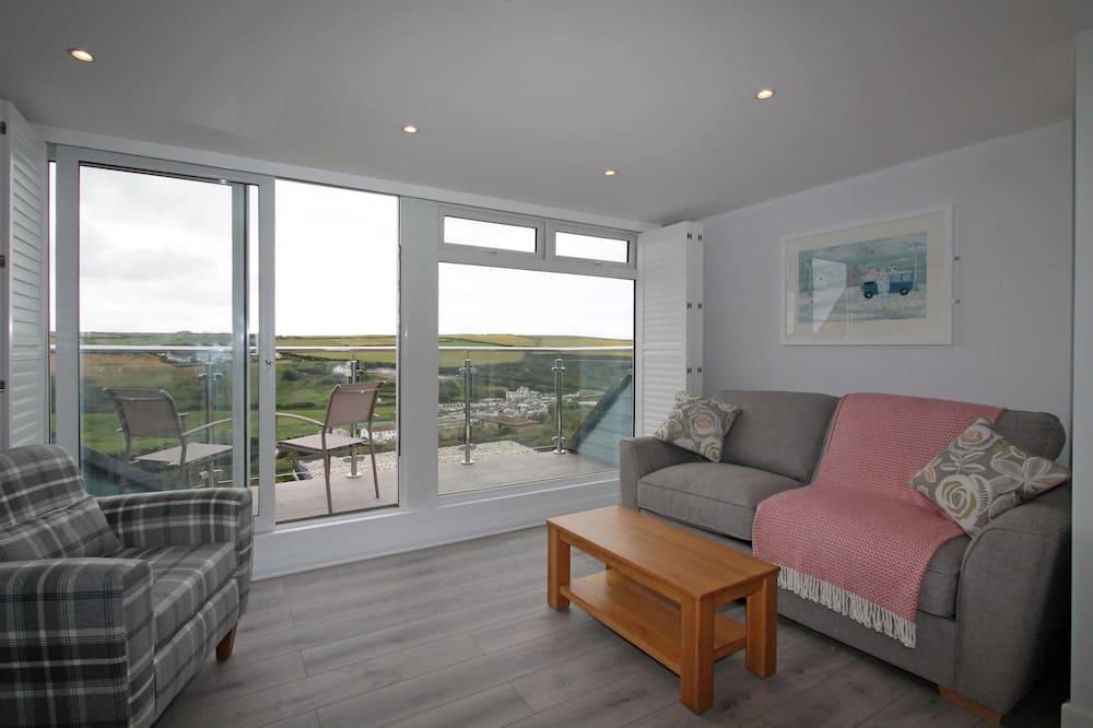 Superior-Apartment, 1 Schlafzimmer, Meerblick (No dogs) - Wohnzimmer