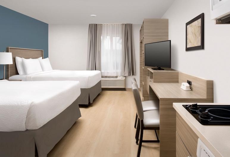 WoodSpring Suites Seattle Tukwila, Tukwila, Standardni studio apartman, 2 queen size kreveta, kuhinja, Soba za goste