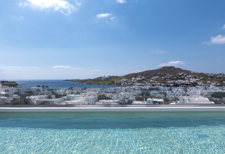 Amperian Mykonos Suites, Mykonos, Two-Bedroom Apartment with Large Private Pool and Sea View, Balcony