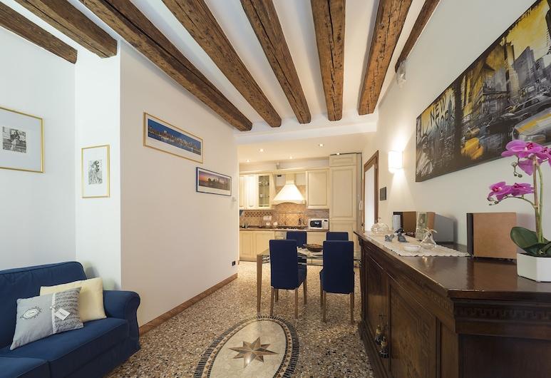 Romantic Lagoon, Венеция, Апартаменты, 1 спальня, Зона гостиной