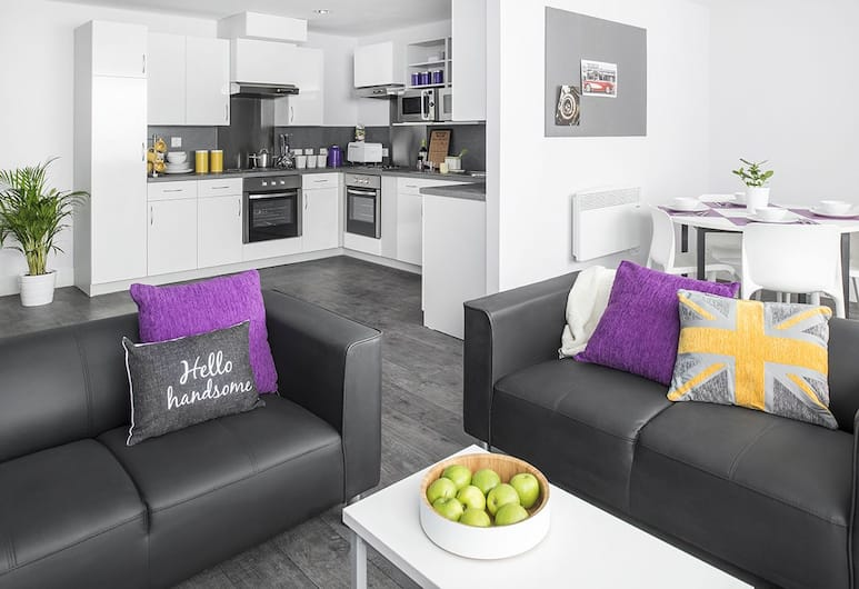 Ablett House - Campus Accommodation, Liverpool, Double Room (3/4 Size Small Double Bed), Living Area