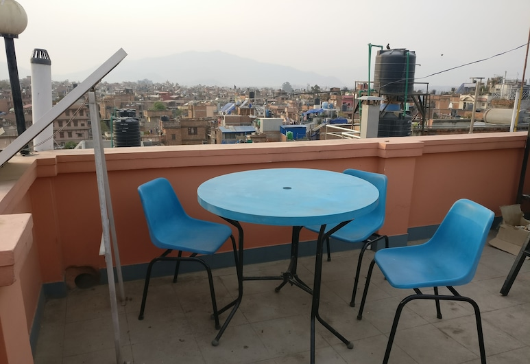 Om Pension Guest House, Lalitpur, Teras/Veranda