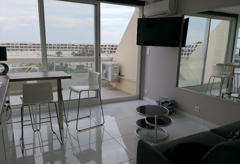 Appartement Heliopolis D, Agde, Studiolejlighed, Altan