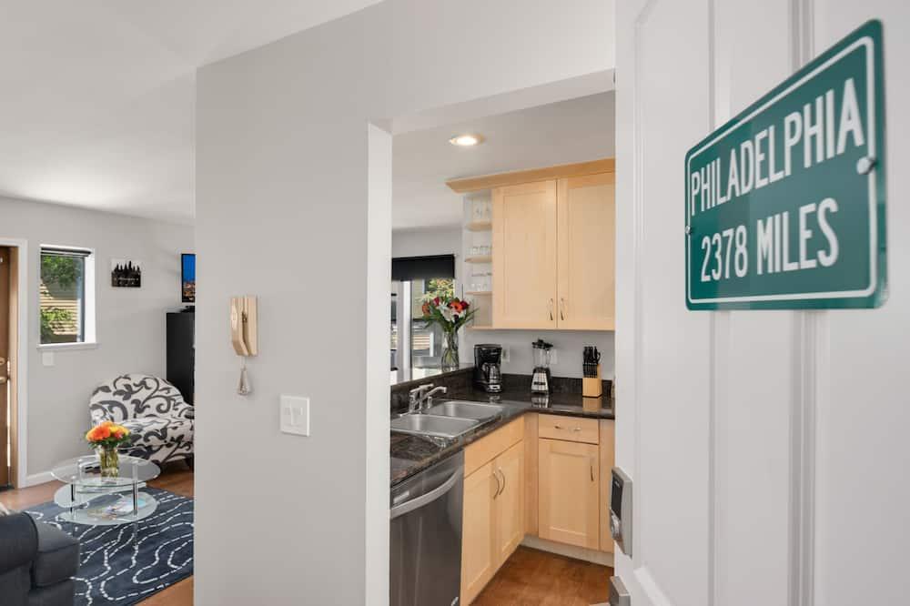 Deluxe-Apartment, 1 Schlafzimmer, Küche - Wohnbereich