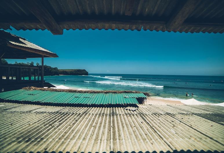 Jimbaran Balangan Beachfront Rooms, Jimbaran, Panorama appartement, 1 kingsize bed, uitzicht op zee, Aan het strand, Uitzicht op strand/zee