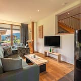 Deluxe-alpehytte - 2 soveværelser - allergivenligt - have-område (incl. Cleaning Fee 110 EUR) - Opholdsområde