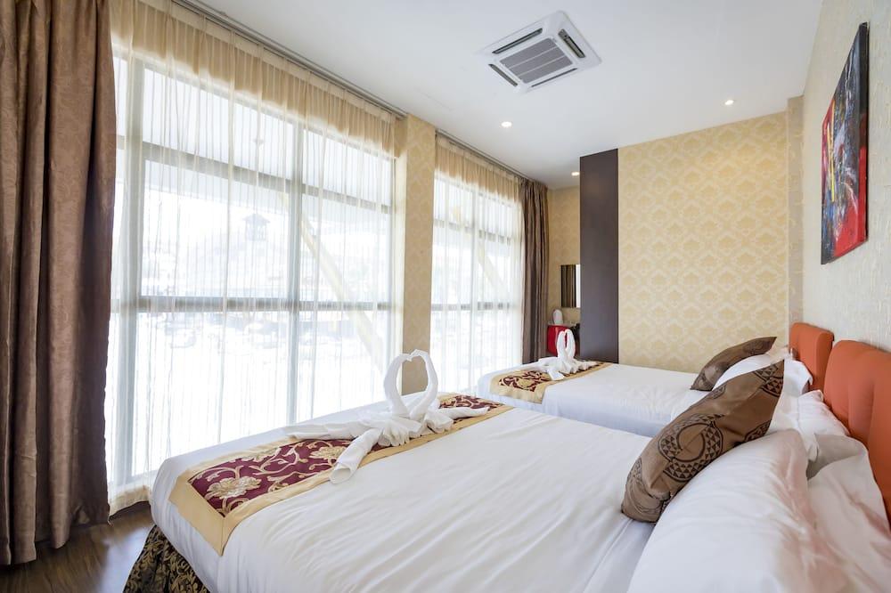 Grand kahetuba, 2 laia voodit - Esimene mulje