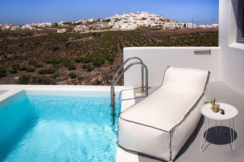 Suite estudio junior, piscina privada, vista al mar - Alberca privada