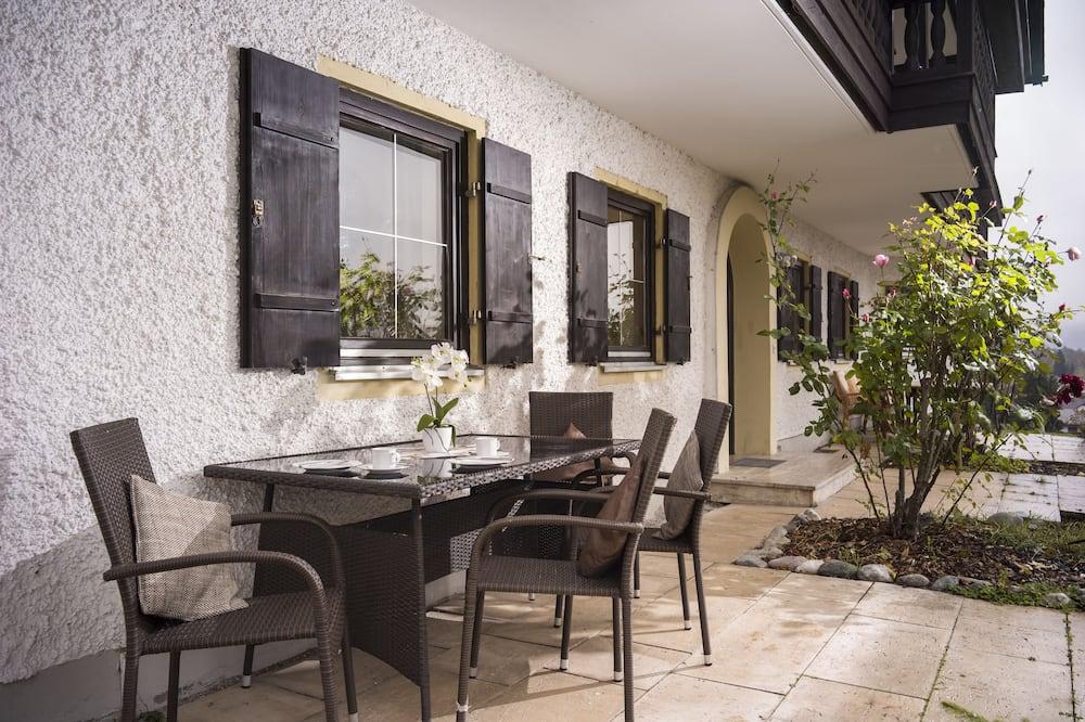 Apartamentai, 1 miegamasis, terasa (Ferienwohnung 5) - Balkonas