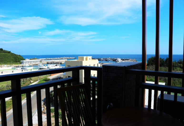 澎湖理想窩民宿, 馬公市, 舒適雙人房, 1 張加大雙人床, 露台
