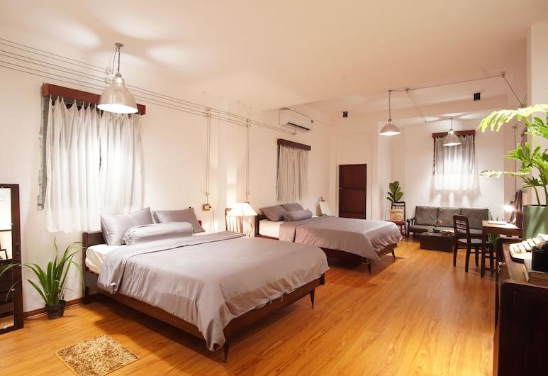 峴港城市青年旅舍, 峴港, 豪華開放式客房, 1 間臥室, 廚房, 城市景, 客廳