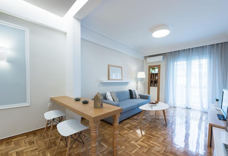 Central Maison, Thessaloniki, Deluxe appartement, Woonruimte