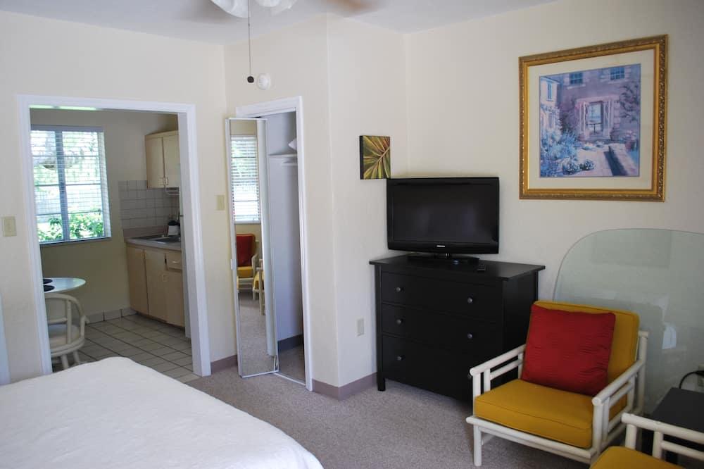 Premium Studio, 1 Queen Bed, Non Smoking, Garden View - Living Area