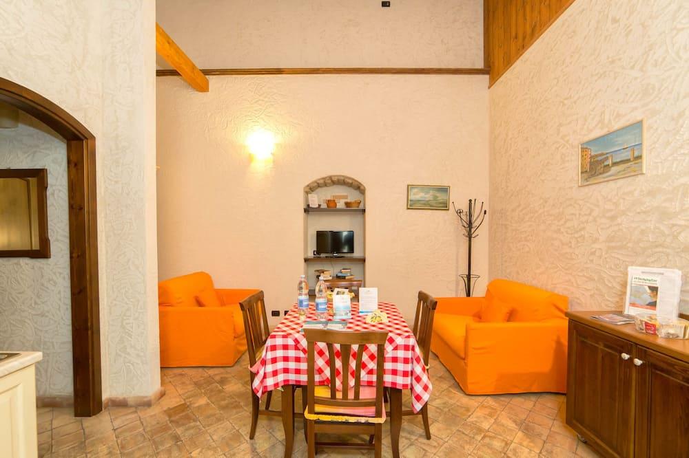 舒適公寓, 簡易廚房, 部分海景 - 客廳