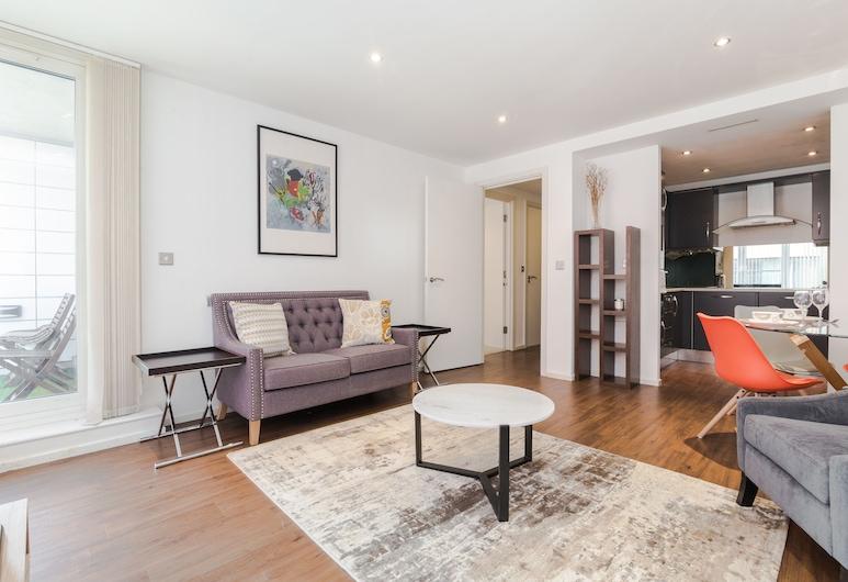 小愉悅奧斯汀大衛浴公寓飯店, 倫敦, 公寓, 1 間臥室, 客廳