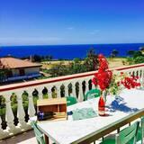 Apartamentai, 3 miegamieji, terasa, vaizdas į jūrą - Terasa / vidinis kiemas