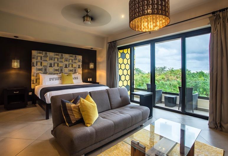 Honey B Suites, Playa del Carmen, Honeymoon Studio Suite, 1 Bedroom, Balcony, Ocean View, View from room