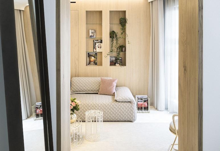 de Gulde Schoen, Antwerpen, Deluxe-Suite, 1King-Bett (Suite 9), Zimmer