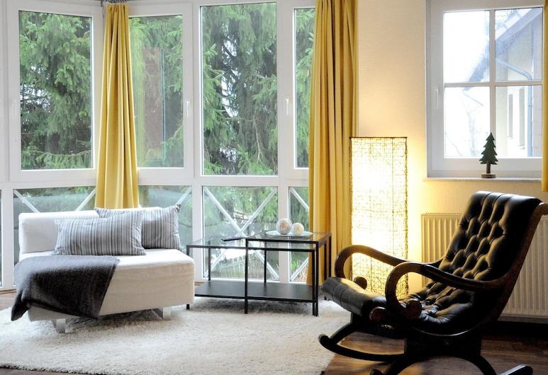 Apartment Heller am Hasselkopf, Braunlage, Appartement, salle de bains attenante, vue montagne, Salle de séjour