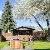 Eenvoudige bungalow, Meerdere bedden, uitzicht op tuin - Uitzicht op tuin