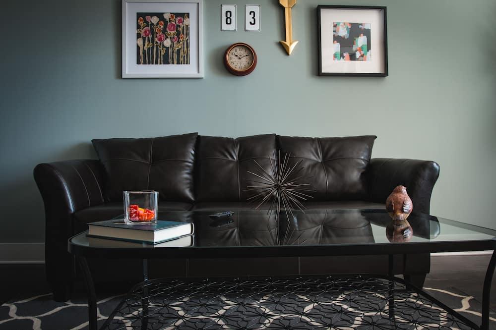 Premium-lejlighed - 1 soveværelse - køkken - Stue