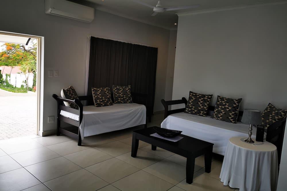 Casa de campo Deluxe, 1 habitación, cocina básica, vista al jardín - Sala de estar
