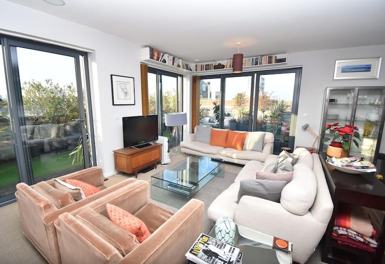 Atemberaubende Luxus-penthouse mit Großer Umlaufende Dachterrasse, London, Luxury-Penthouse, Terrasse, Wohnbereich