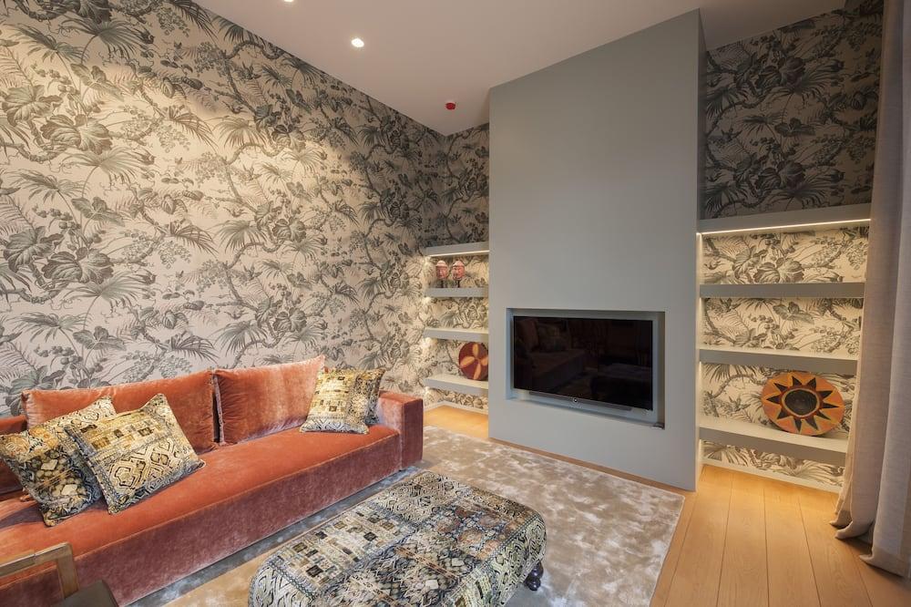 Numeris, 1 labai didelė dvigulė lova, terasa (Askoy suite) - Svetainė