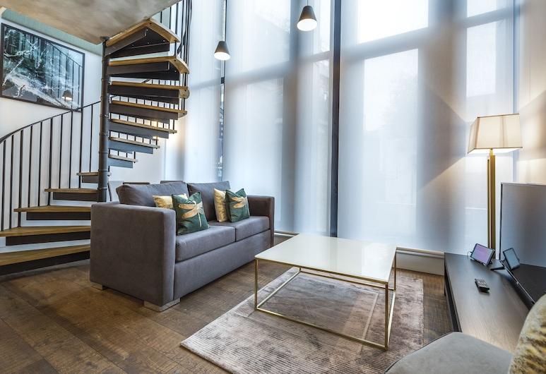 Q Soho, London, Apartment, 1 Bedroom, Living Area