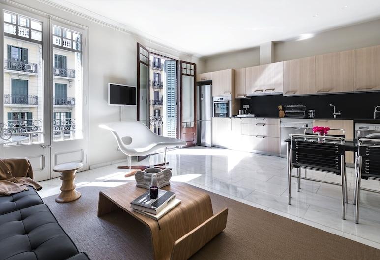Glocal Apartments Barcelona, Barcelona, Lägenhet - 1 sovrum - balkong (Cris), Vardagsrum