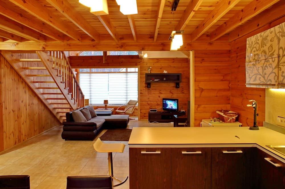 Vila typu Comfort, 4 spálne, terasa, s výhľadom do záhrady - Obývacie priestory