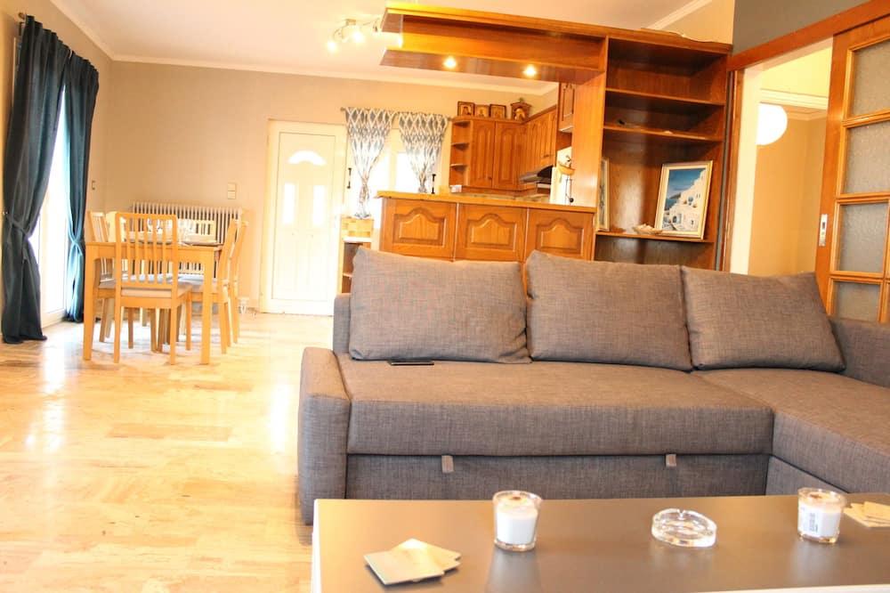 舒適獨棟房屋, 2 間臥室, 海景, 面海 - 客廳