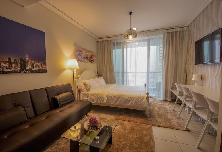 Iconic Apartment with Balcony, Dubai, Szoba