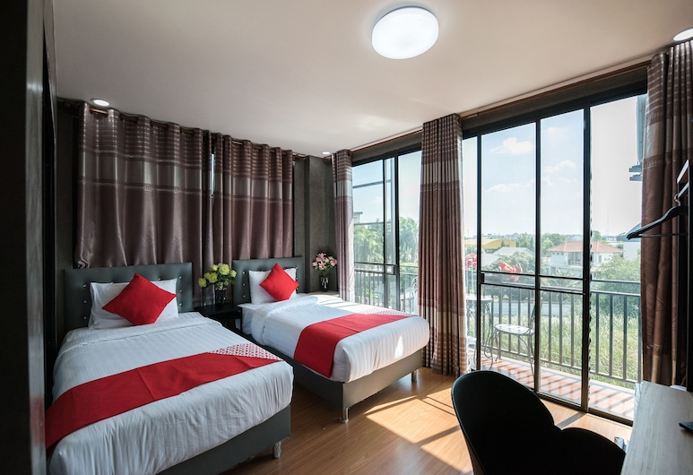 OYO 106 5 チャン パレス ホテル, バンコク, デラックス ツインルーム, 部屋