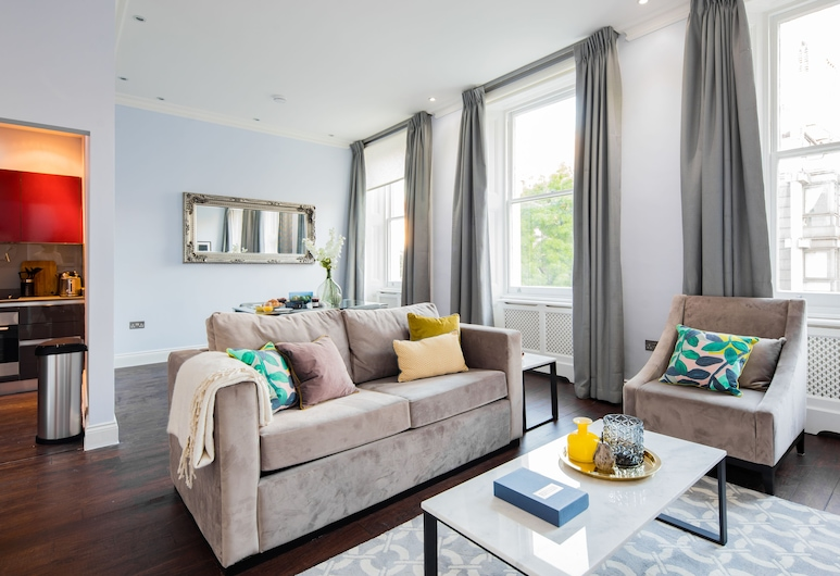 Lancaster Gate ,Hyde Park by London Hotel Collection, London, Apartment, 1 Schlafzimmer (LG4), Zimmer