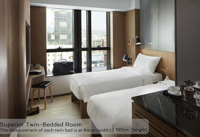 디 오토 호텔, 카오룽, 슈피리어 트윈룸, 싱글침대 2개, 객실