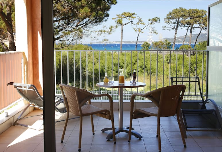 Hôtel l'Onda, Calvi, Pokój dwuosobowy, widok na morze, Balkon