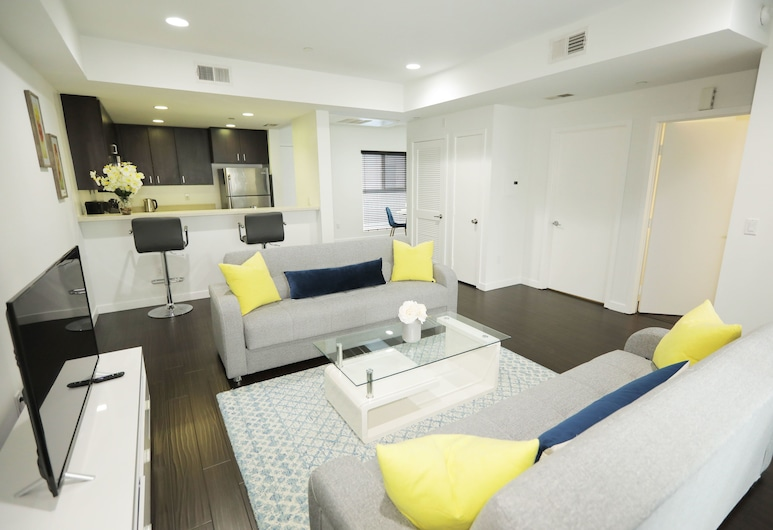 Downtown Cosmopolitan Suites, Los Angeles, Byt typu Premium, 1 spálňa, výhľad na mesto, Izba