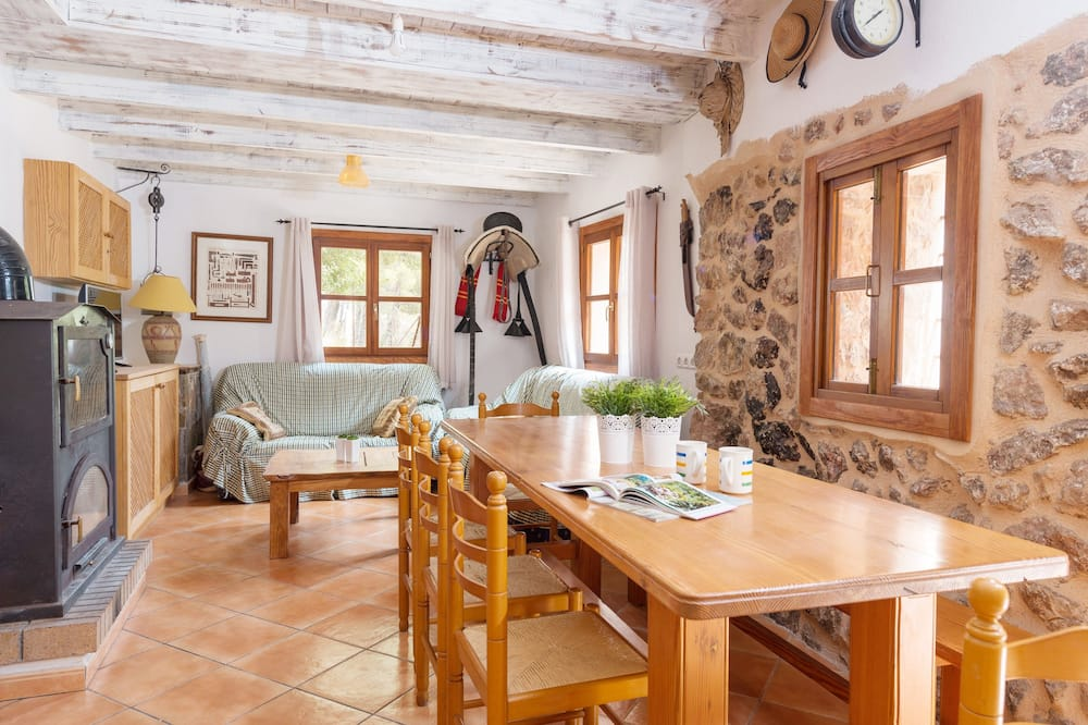 Chalet, 2 Bedrooms, Terrace, Mountain View - Living Room