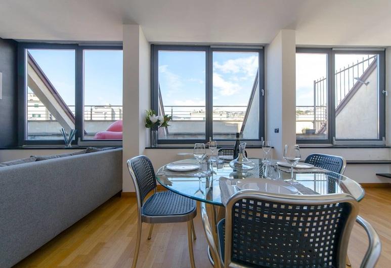 Altido Penthouse next to Acquario, Genova, Appartement, 1 slaapkamer, terras, Woonruimte