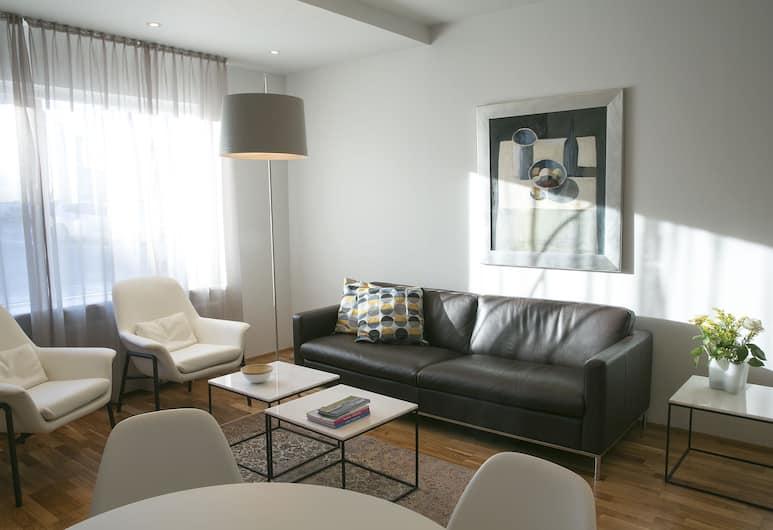 V54 Harbour Apartments, Reykjavík, Deluxe-íbúð, Herbergi
