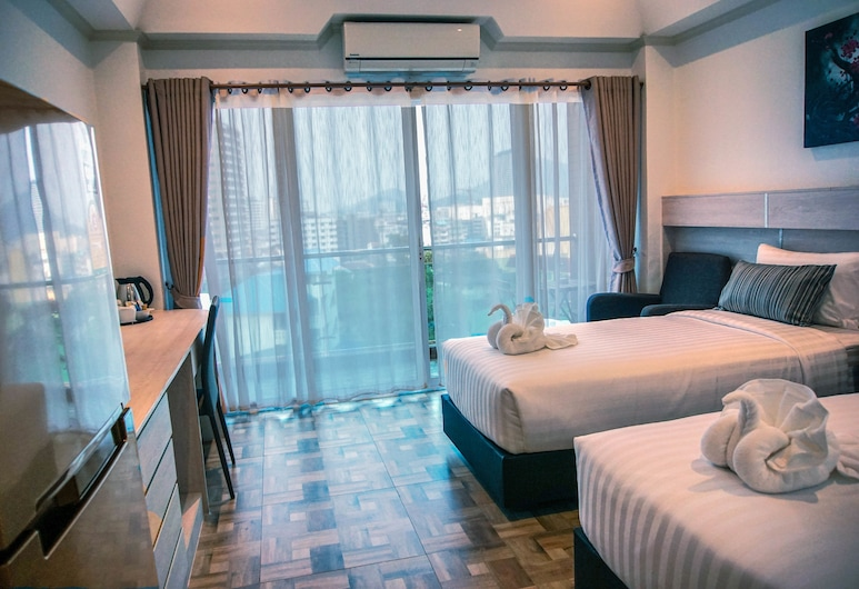 Cityview Residence, Si Racha, Deluxe Room Higher Floor with Jetted Bathtub , Guest Room