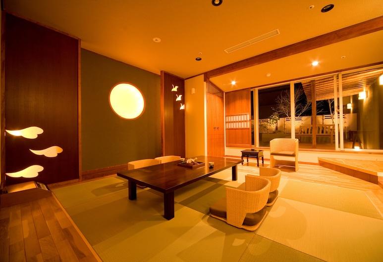 Hotel Beppu Pastoral, Beppu, Hefðbundið herbergi - Reykherbergi (Japanese Style, Open-Air Bath), Herbergi